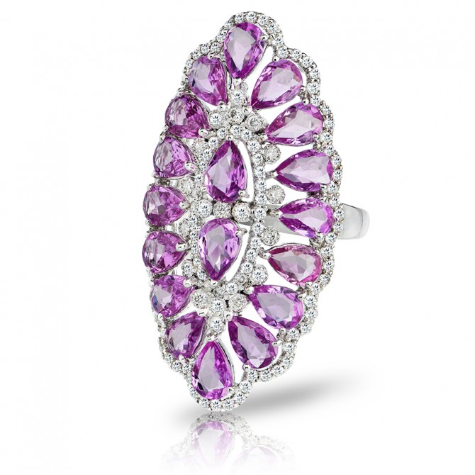 Marquee Pink Sapphire Ring