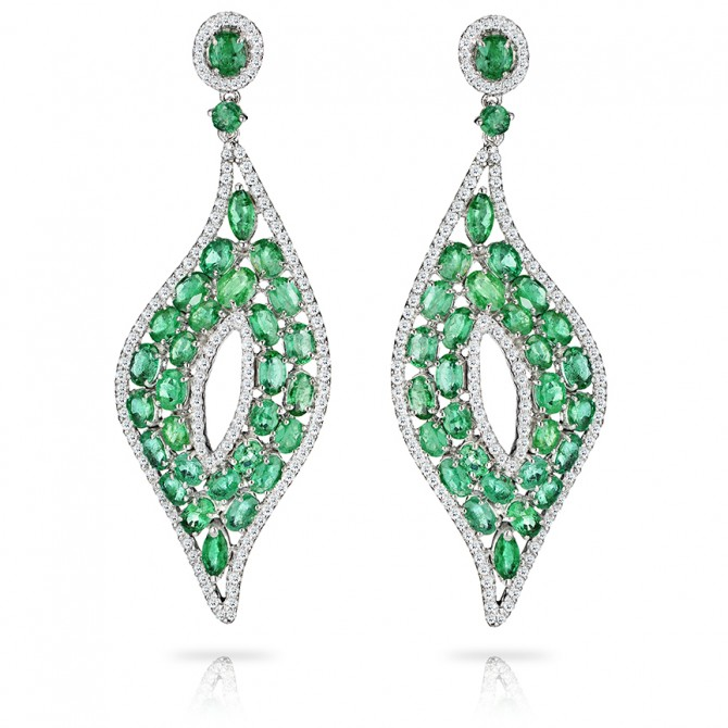 Chandelier Emerald Earrings