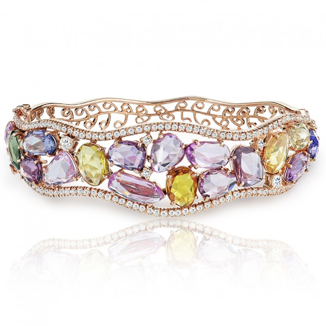 Clustered Multi Sapphire Bracelet