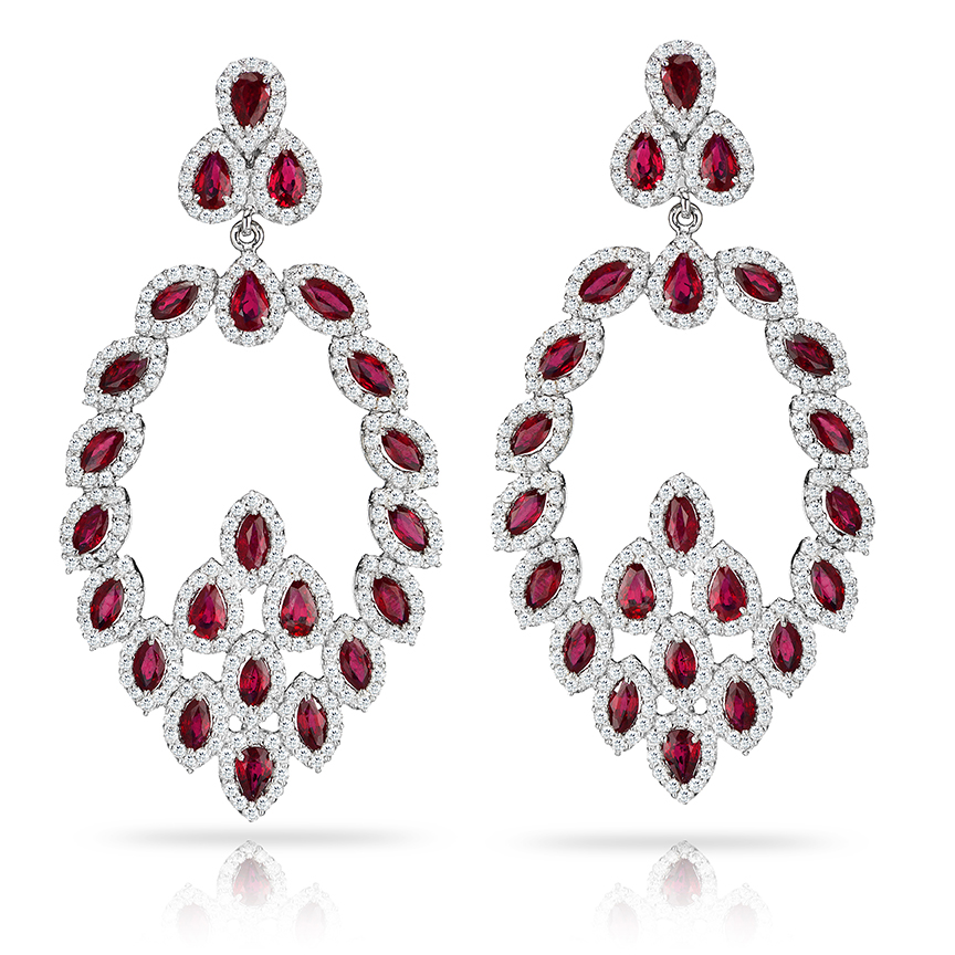 Décor Ruby Earrings