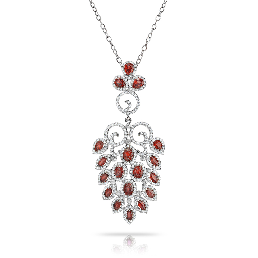 Chandelier Ruby Necklace