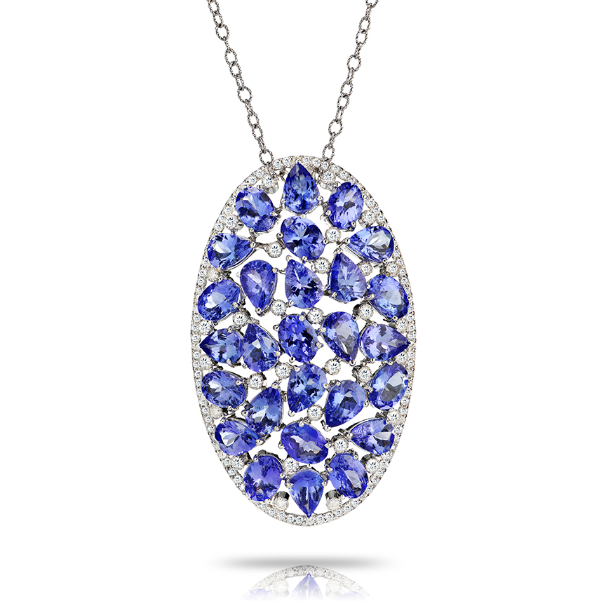 Clustered Tanzanite Necklace